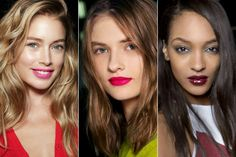 Pair Bold Lip with Loose Waves