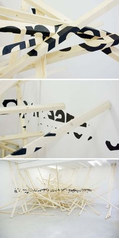 Ole Martin Lund Bø, Anamorphic Typography Sculpture, Deceptive Outward Appearance