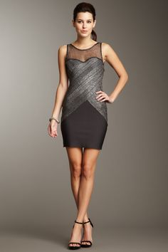 Metallic Mesh Dress - very nice, if you can carry it off!