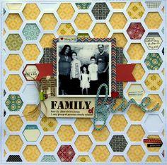 A Jillibean Irish Farmhouse soup layout using hexagon placemat overlay by Nicole Nowosad.