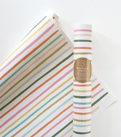 Happy Stripe Wrapping Paper - Rifle Paper Co.