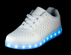 uk availability 4c32f 8594a Light up shoes available for Men Women Kids! White Nova shoe with 6 hours  of LED action. Easily rechargeable with 11 color changing modes.
