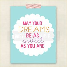 May Your Dreams Art Print  Kids Room Art  by BabyBirdandBubBub, $15.00