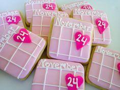 Calendar Sugar Cookies- 1 Dozen, via Etsy.
