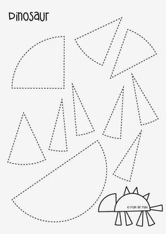 Dinosaur Paper Craft - Free Template by dina Dinosaurs Preschool, Dinosaur Activities, Preschool Themes, Preschool Lessons, Classroom Activities, Preschool Activities, Daycare Curriculum, Vocabulary Activities, Physical Activities