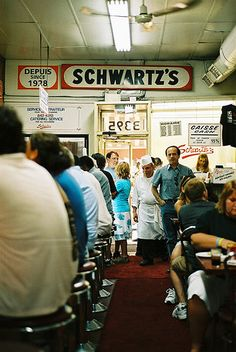 "http://www.schwartzsdeli.com                         The oldest deli in Canada  A true Montreal landmark situated on the historic ""Main""  It's yummy but I like Smoked Meat Pete's even better.  Standing in a very LONG line!"