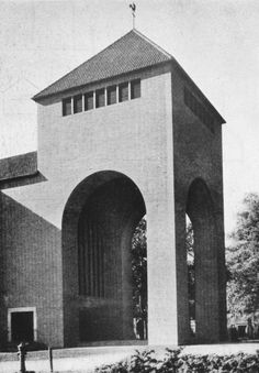 "Church ""Heilig Kreuz"" (1936-37) in Bocholt, Germany, by Dominikus Böhm"