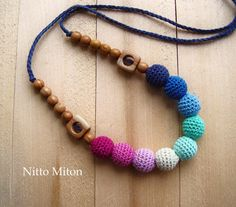 Crochet Nursing necklace Breastfeeding Teething от NittoMiton