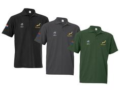 Mens and Ladies Springbok Pique Golf Shirt - Springbok Branded Gear - IgnitionMarketing.co.za Rugby Gear, Branded Mugs, Womens Golf Shirts, Good To Great, Office Essentials, Team S, Ladies Golf, Corporate Gifts, Get Dressed