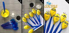 Paso a paso de como hacer estas paletas con el personaje de moda...en cucharas de plástico!!!,
