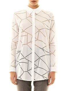 Christopher Kane Broderie anglaise button down shirt