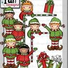 This 21- piece set has the cutest little elves!! I hope you enjoy using them for all of your holiday projects.  Included are 12 colored images and ...