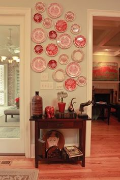 Love the plates as wall decor. French Provincial Home with Traditional Interior - eclectic - hall - charlotte - Paisley Blaise Staging & Design Traditional Decor, Plate Wall Decor, Plate Decor, Decor, Traditional Interior, French Provincial Home, Eclectic Decor, Eclectic Interior, Home Decor
