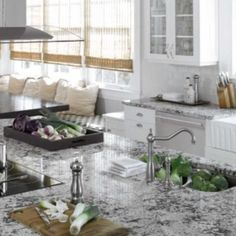 that unsealed or poorly sealed granite countertops can absorb juice,. by Kitchen and Bath Kitchen And Bath Design Center, Kitchen And Bath Showroom, Kitchen Design, Types Of Countertops, Black Granite Countertops, Kitchen Countertops, Simple Bathroom Designs, Modern Bathroom Design, Bathroom Ideas