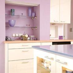 A purple kitchen!