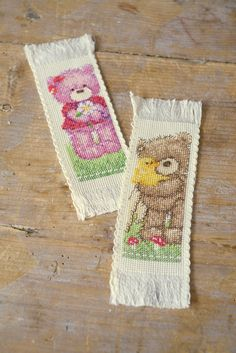 Vervaco Popcorn bookmarks diy #bookmarks #popcorn #bears #crossstitch #embroidery #embroiderykit #Vervaco --> Find us on Facebook Vervaco - Lanarte