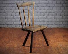 Primitive Antique Welsh Stick Chair c.1800. in Antiques, Antique Furniture, Chairs, Pre-Victorian (Pre-1837) | eBay