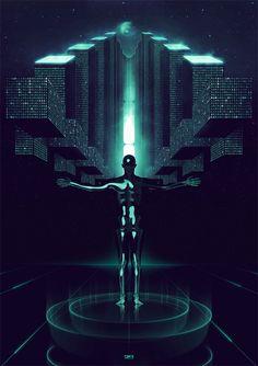 retro-futuristic, virtual reality, cyberpunk