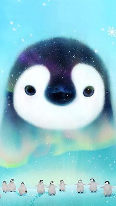 Pin by mel malik domingues on wallpaper in 2019 pinguim, pla March Of The Penguins, All About Penguins, Cute Penguins, Penguin Pictures, Animal Pictures, Cute Pictures, Penguin Life, Penguin Art, Panda Wallpapers