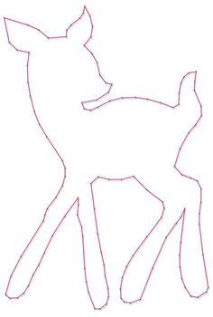 Hertje   Spijkerafbeeldingen   spijkerpatroon