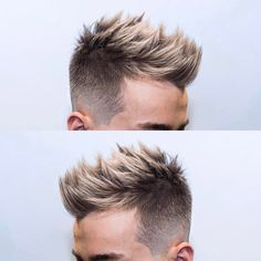 Taper fade with highlights