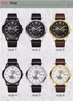 d7d7231ff Fashion Wrist Watch For Men Brown Leather Strap