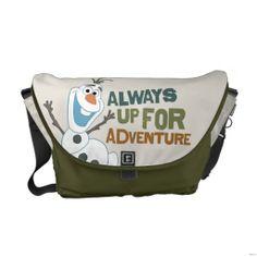 Disney Frozen Olaf - Always up for Adventure Messenger Bag. For order or details click on the image!