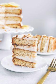 Lemon Cream Layer Cake #vegan