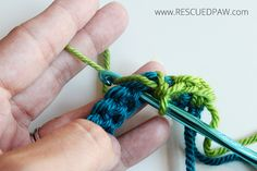 How to Make a Spike Stitch - Crochet Tutorial From Rescued Paw Designs