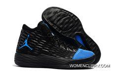 131d9808531 New Jordan Melo M13 Black Blue Release Super Deals