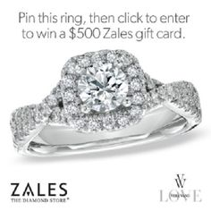 Vera Wang LOVE Collection:   1 CT. T.W. Diamond Frame Engagement Ring in 14K White Gold #timelessLOVE
