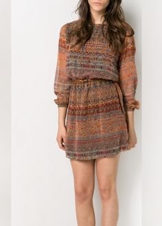 Vestido gasa estampado persa