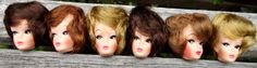 Uneeda Suzette Doll Heads Bubblecut Hair by WildAboutVintage