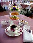 Tea Rose Garden, 28 S. Raymond Ave, Pasadena, CA 91105. My favorite place to go for tea. Love their finger sandwiches and scones. At Christmas they have a lovely tree in the center of the room and the place feels magical.