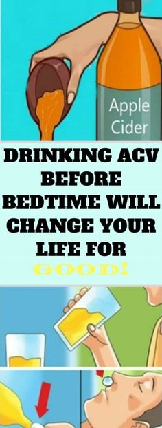 DRINKING ACV BEFORE BEDTIME WILL CHANGE YOUR LIFE FOR GOOD!!!