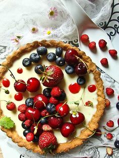KUCHARNIA Elderflower panna cotta tart