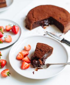 The easiest, most delicious molten chocolate cake.