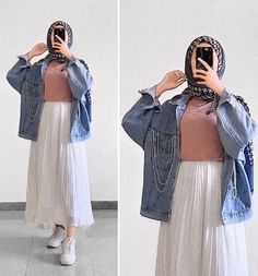 Hijab Casual, Modest Fashion Hijab, Modern Hijab Fashion, Hijab Fashion Inspiration, Muslim Fashion, Fashion Outfits, Fashion Fashion, Work Fashion, Fashion Belts