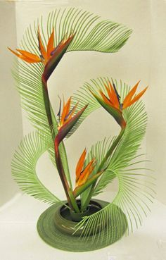 Design using sago and Strelitzia by Carole Martin, Florida Federation of Garden . Design using sago and Strelitzia by Carole Martin, Florida Federation of Garden Clubs Floral Design Studies instruct Creative Flower Arrangements, Tropical Flower Arrangements, Ikebana Flower Arrangement, Church Flower Arrangements, Ikebana Arrangements, Beautiful Flower Arrangements, Unique Flowers, Exotic Flowers, Tropical Flowers