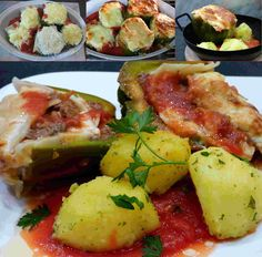 würzige lasagne in paprika Potato Salad, Mashed Potatoes, Zucchini, Fish, Meat, Chicken, Vegetables, Ethnic Recipes, Lasagne