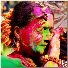 Holi : fête hindoue de la couleur #mauritius