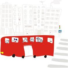 Mural Szkolny autobus