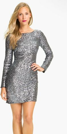 Amazon.com: Jovani 7749, Long-Sleeve Sequin Cocktail Dress ...