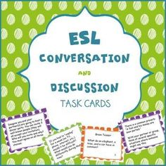 For upper intermediate and advanced ESL students. This is a set of 64 task cards that cover a wide variety of interesting topics that are sure to get them talking. Most conversation topics I have seen for higher level English learners are either not very interesting, don't generate enough conversation, or have too many controversial topics.