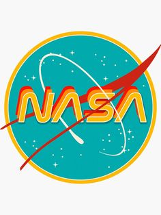 'NASA RETRO' Sticker by Emily Zigo – Expolore the best and the special ideas about Retro logos Art Vinyl, 2 Logo, Retro Wallpaper, Retro Posters, Aesthetic Stickers, Retro Art, Aesthetic Vintage, Aesthetic Grunge, Aesthetic Anime