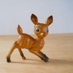 Vintage Plastic Fawn Deer  Vintage Hong Kong by lisabretrostyle2