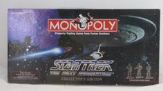 Vintage STAR TREK MONOPOLY Verified Collector Edition 1998