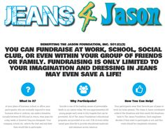Do you wear business attire at work? Would you like to wear jeans for a day or even a week? Check out a great way to make this happen while spreading an important message. Let's all wear jeans the week of Memorial Day and help save young lives!