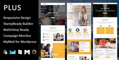 PLUS- Multipurpose Responsive Email Template + Stamp Ready Builder       PLUS is a Multipurpose responsive email template designed for Corporate, Office, Business and general purposes.       Access...