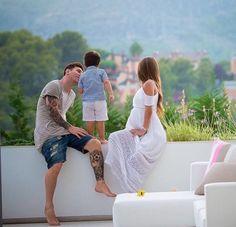 Antonella Roccuzzo , Leo Messi et Thiago